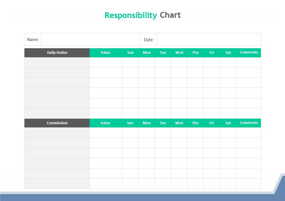 Responsibility Chart Template