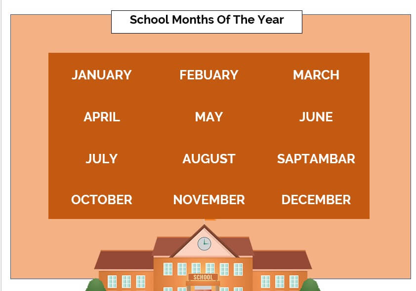 School Months Of The Year