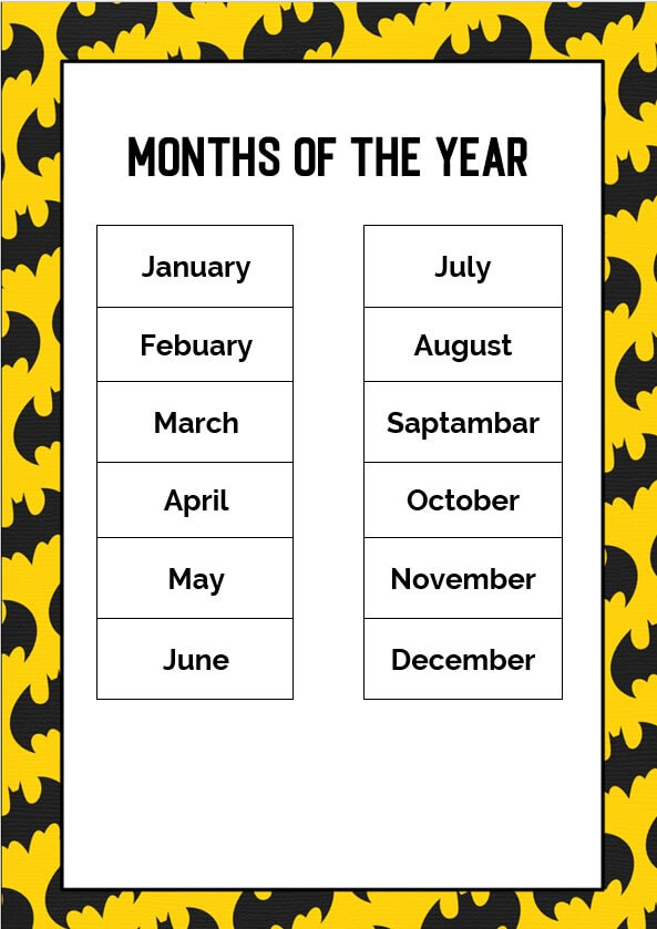 batman months of the year