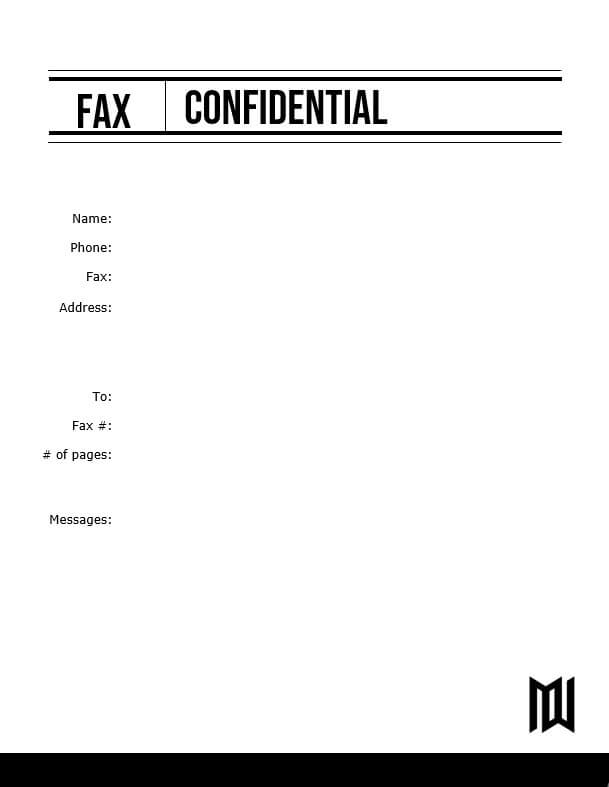 Editable fax cover letter