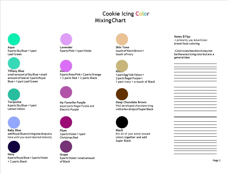 new color charts