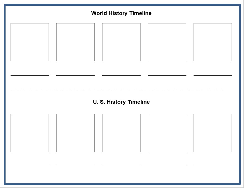 History Timeline Template