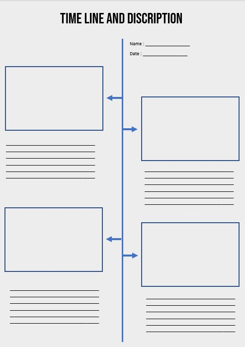 timeline and Discription template