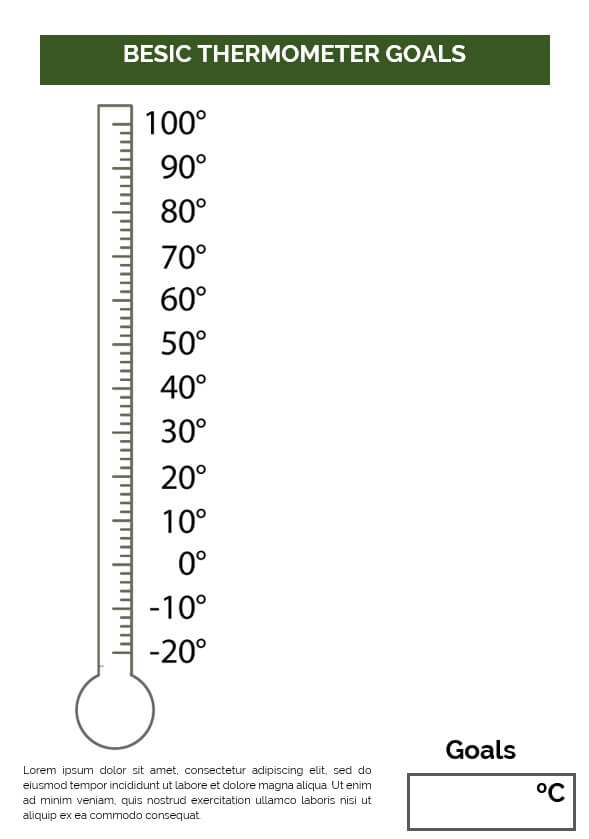 Besic Thermometer Goals Printable