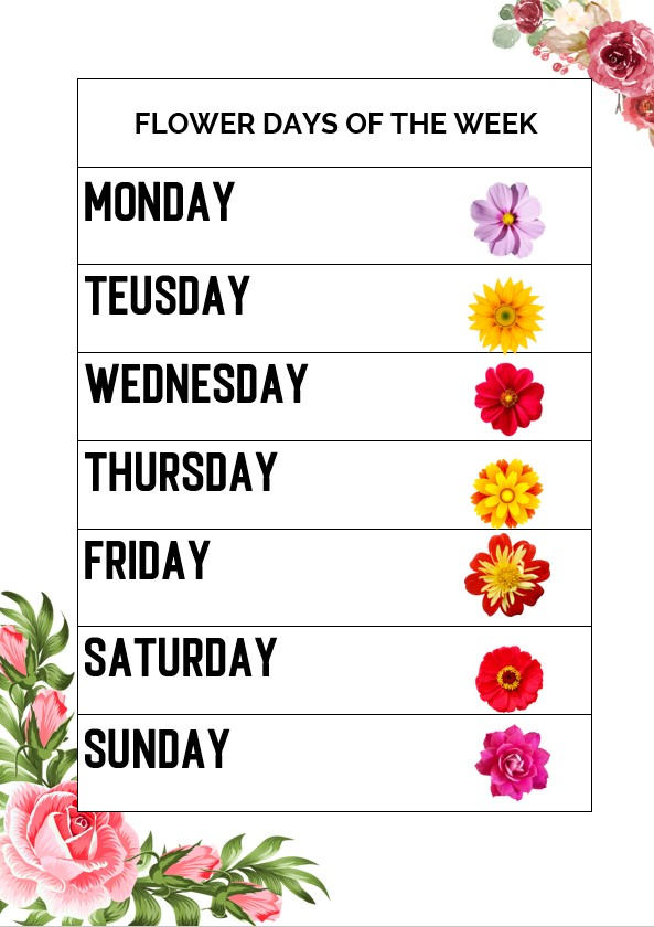 Flower days of the week