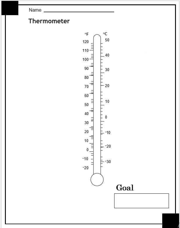 blank thermometer template