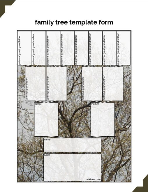 family tree template form