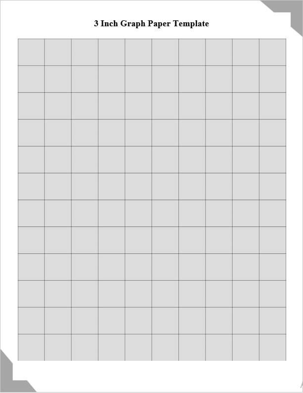 3 Inch Graph Paper Template