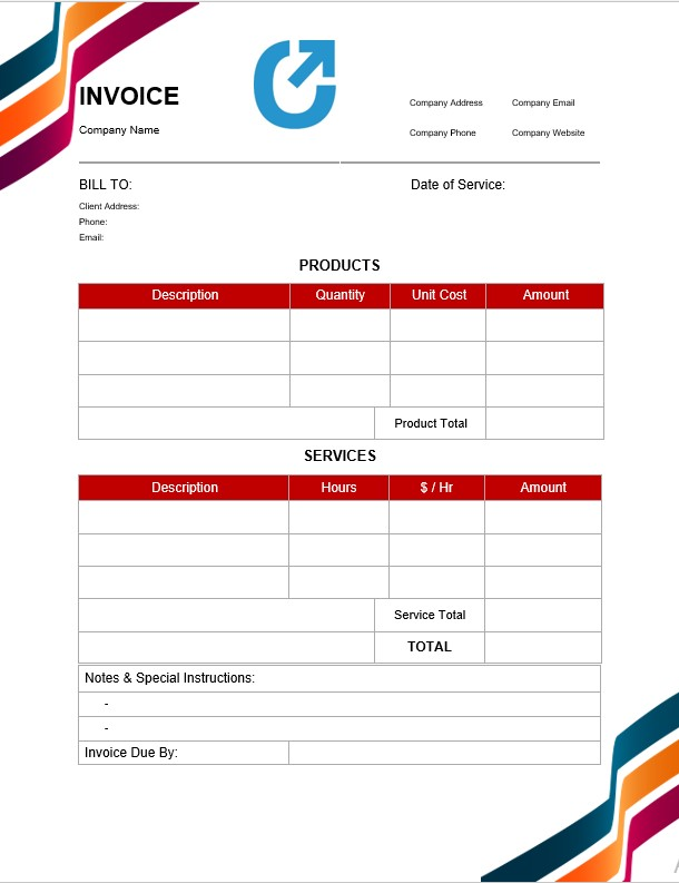 Blank Simple Invoice Template