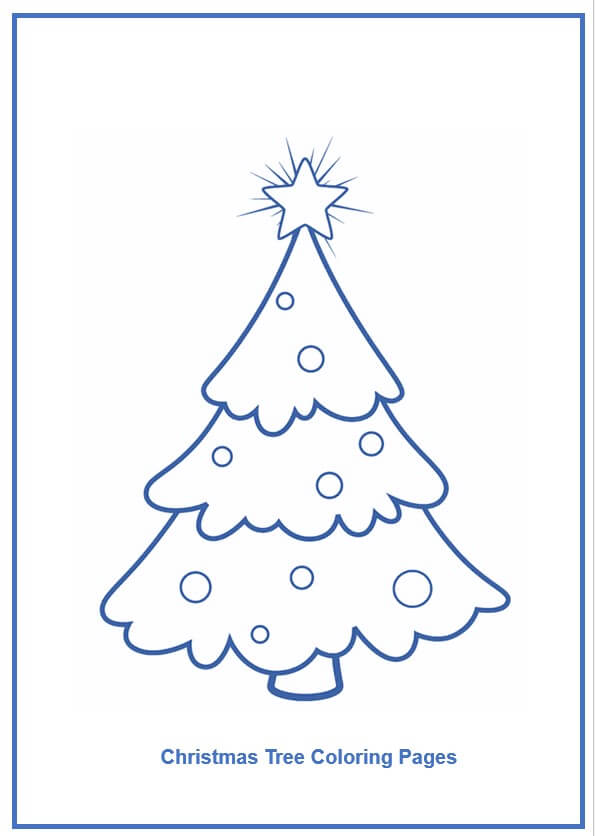 Christmas Tree Coloring Pages