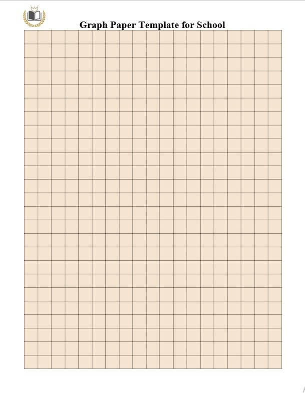 Graph Paper Template for School