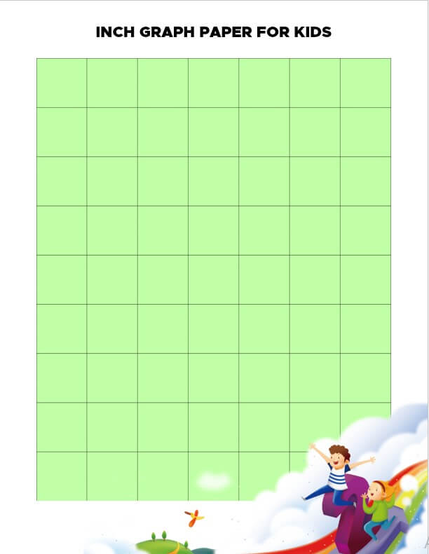 Inch Graph Paper for Kids