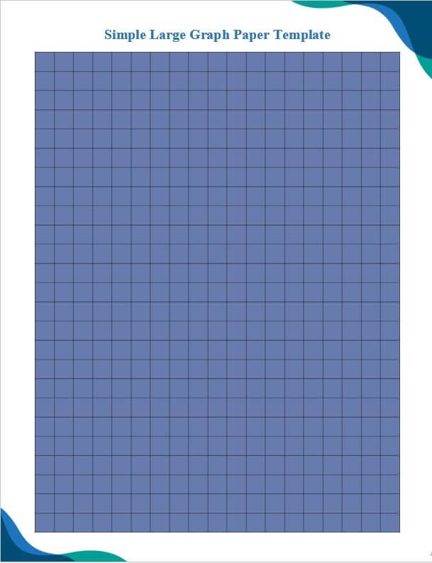 Simple Large Graph Paper Template