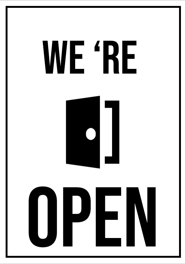 printable open signs