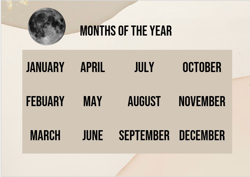 Besic months of the year