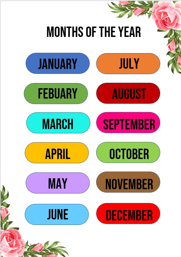Flower months of the year