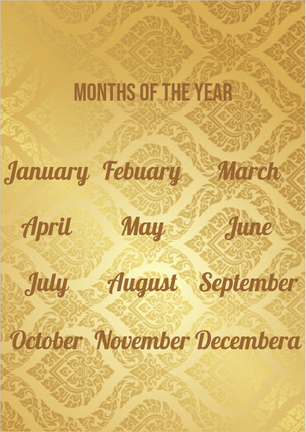 Golden months of the year