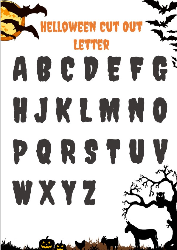 Helloween cut out letter
