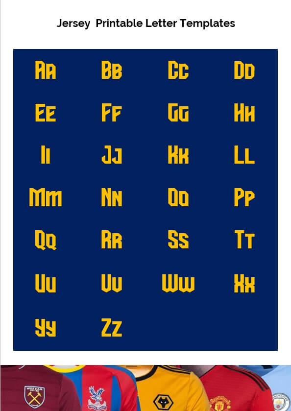 Jersey Printable Letter Templates