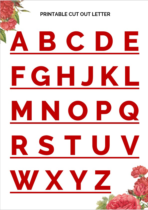 cut out letter template