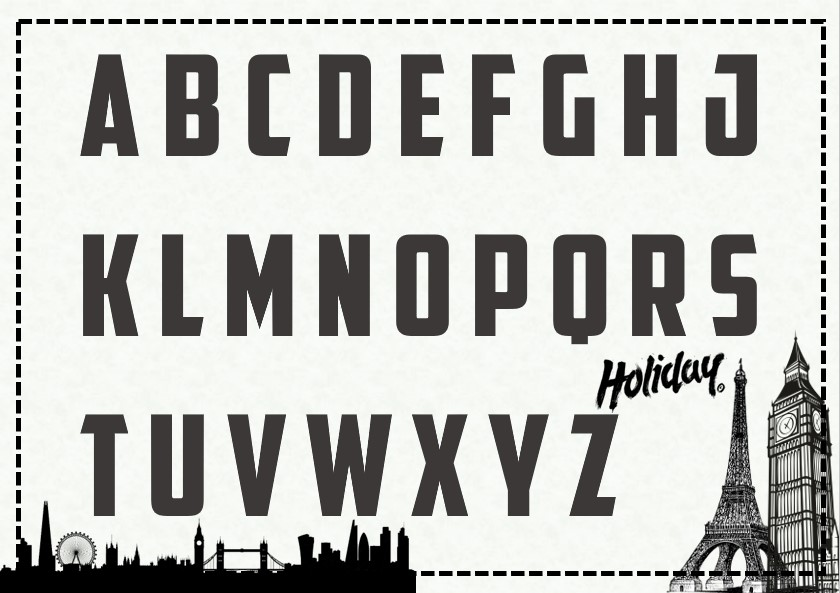holiday cut out letter