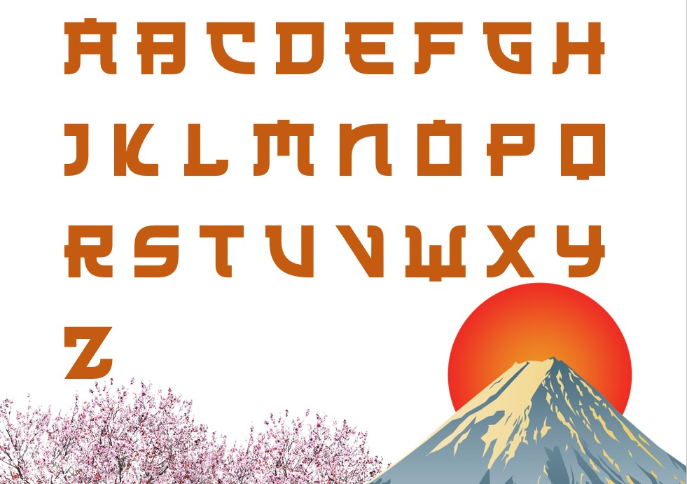 japanese cut out letter