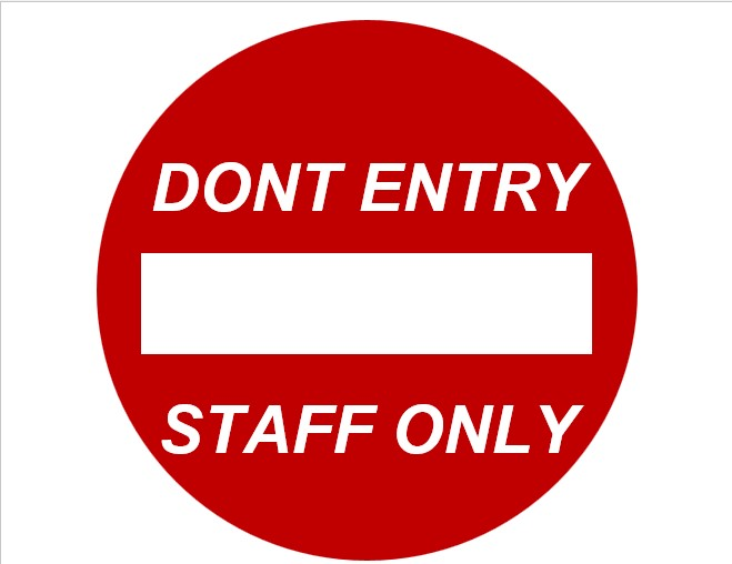 Employees Only Sign In Example
