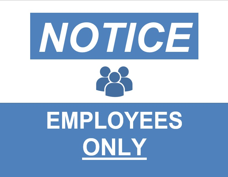 Employees Only Sign In