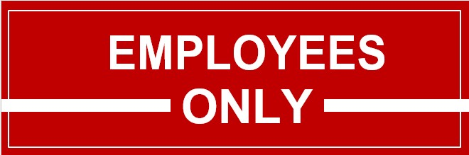 Template Employees Only Sign In