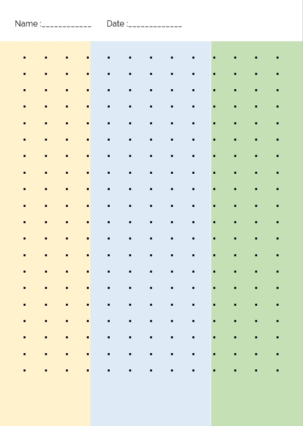 colored dot grid paper