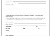 bill of sale form free printable blank bill of sale form