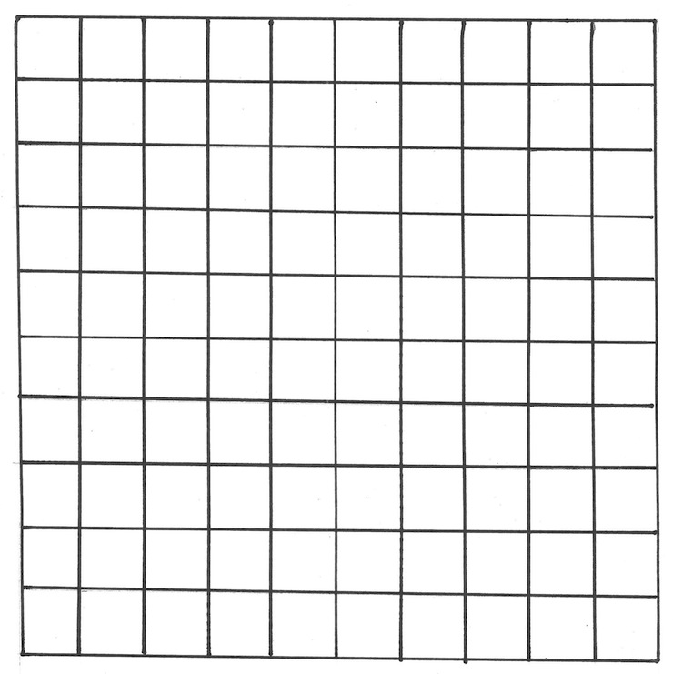 Simplicity image inside 100 square grid printable