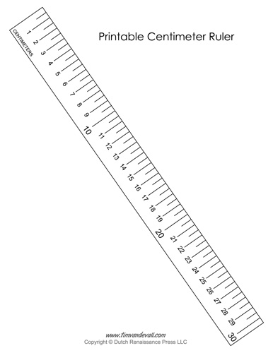 Printable Centimeter Ruler   Tim's Printables