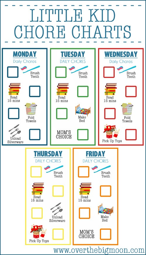 10 Free Printable Chore Charts for Kids