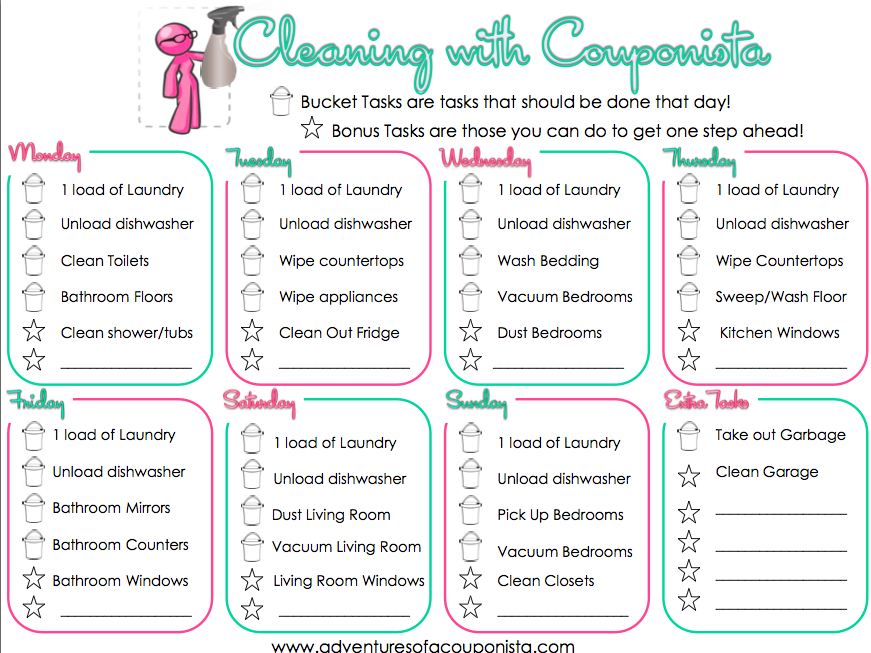 Get your Home in Order with this FREE Printable Chore Chart for MOMS!