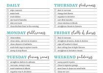 cleaning checklist printable cleaning checklists