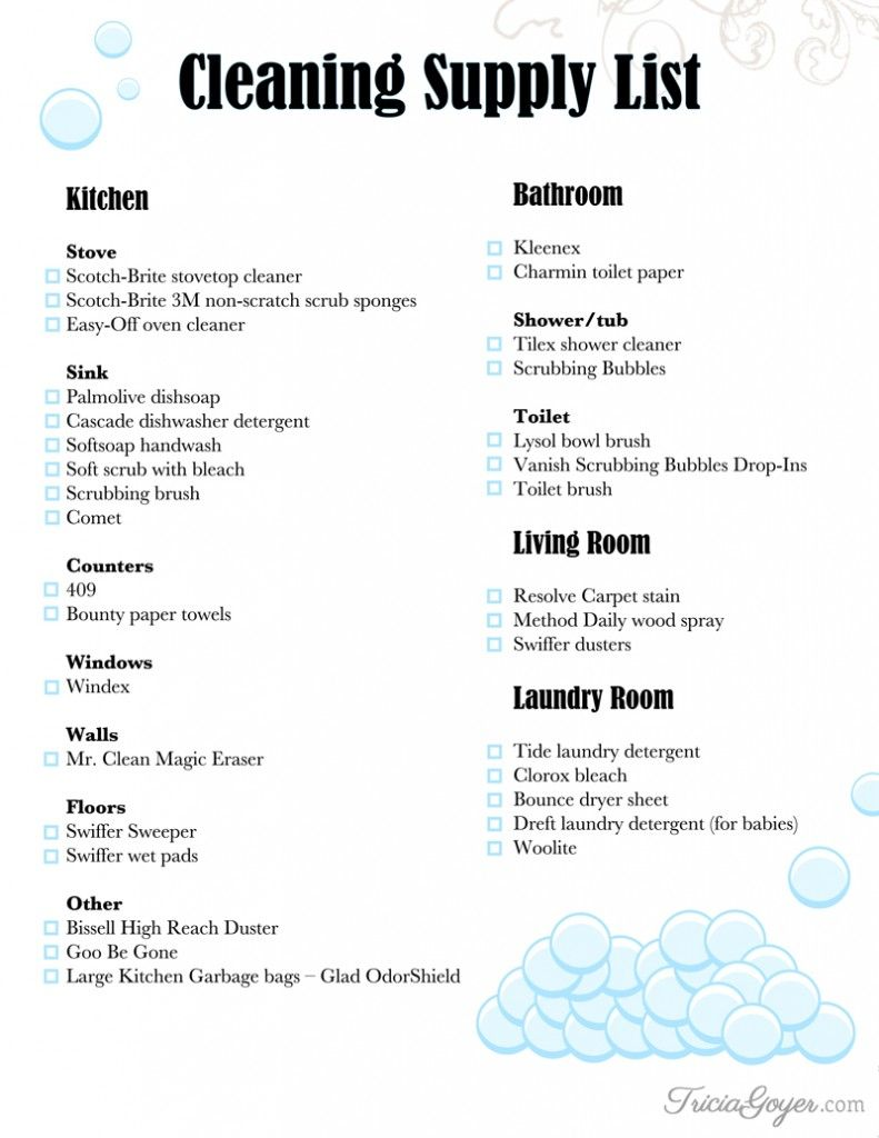 Cleaning Supply List + Printable | 30 Must Follow Christian Moms