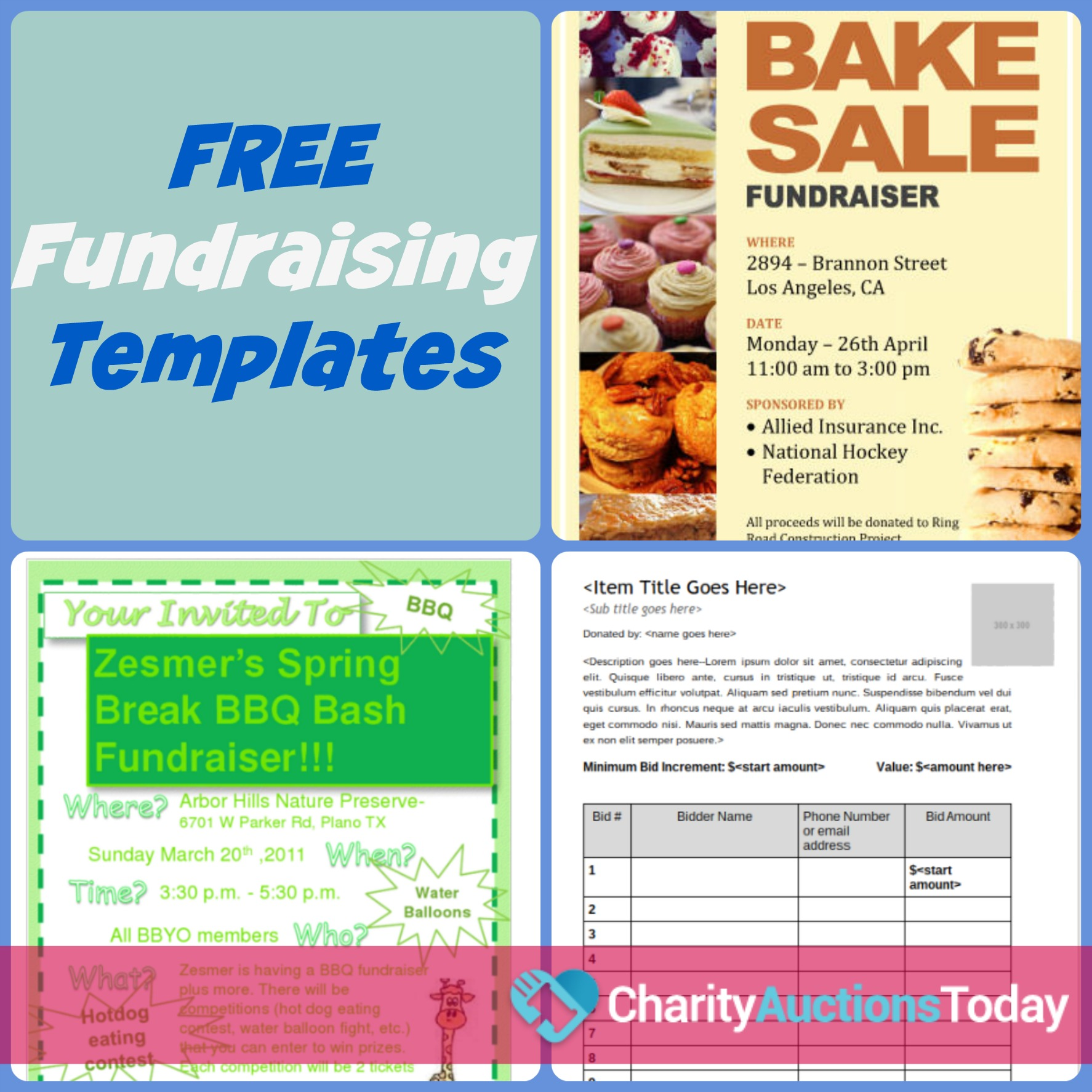 Free Fundraiser Flyer | Charity Auctions Today