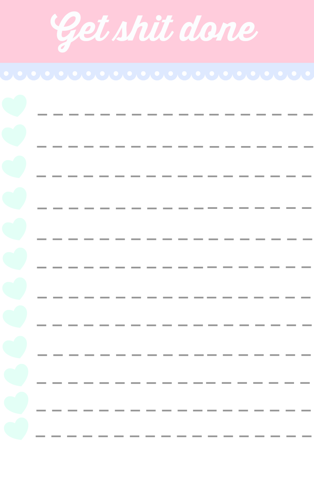 40 Printable To Do List Templates | Kitty Baby Love