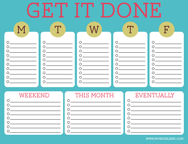 Free Printable To Do Lists – Cute & Colorful Templates | home tips