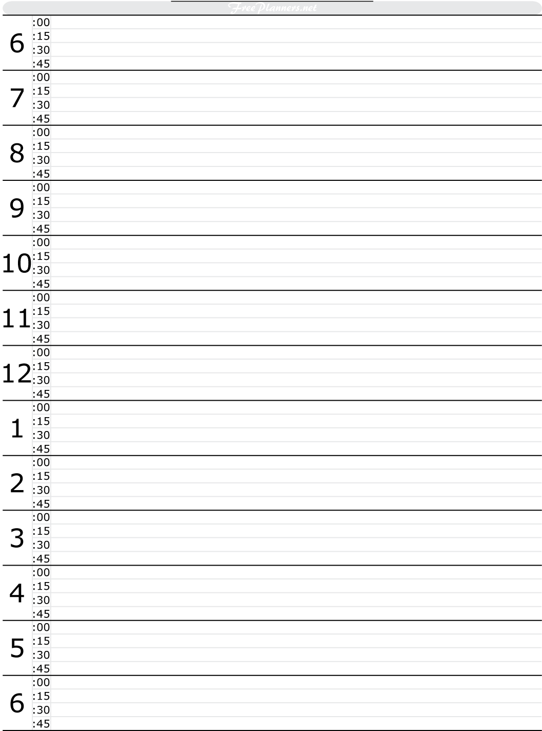Free Printable Hourly Daily Planner | tools to get this under
