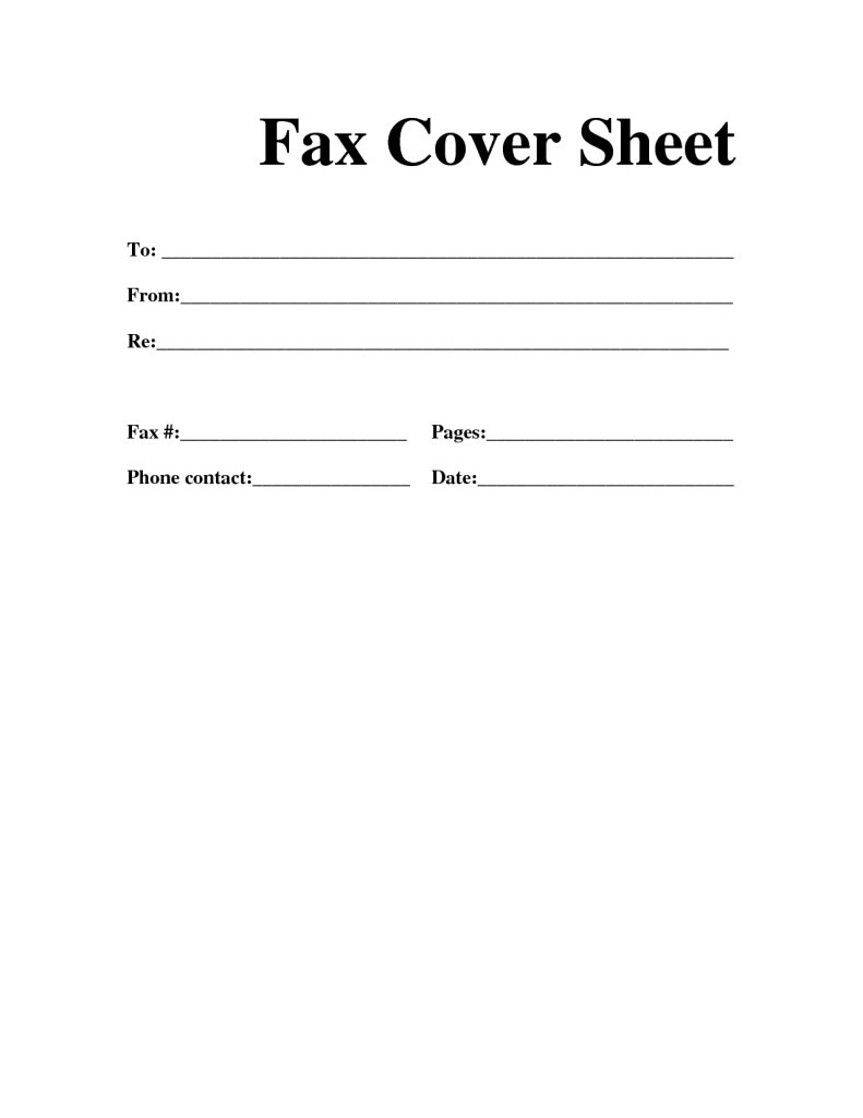 Fax Cover Letter Printable Room Surf Com