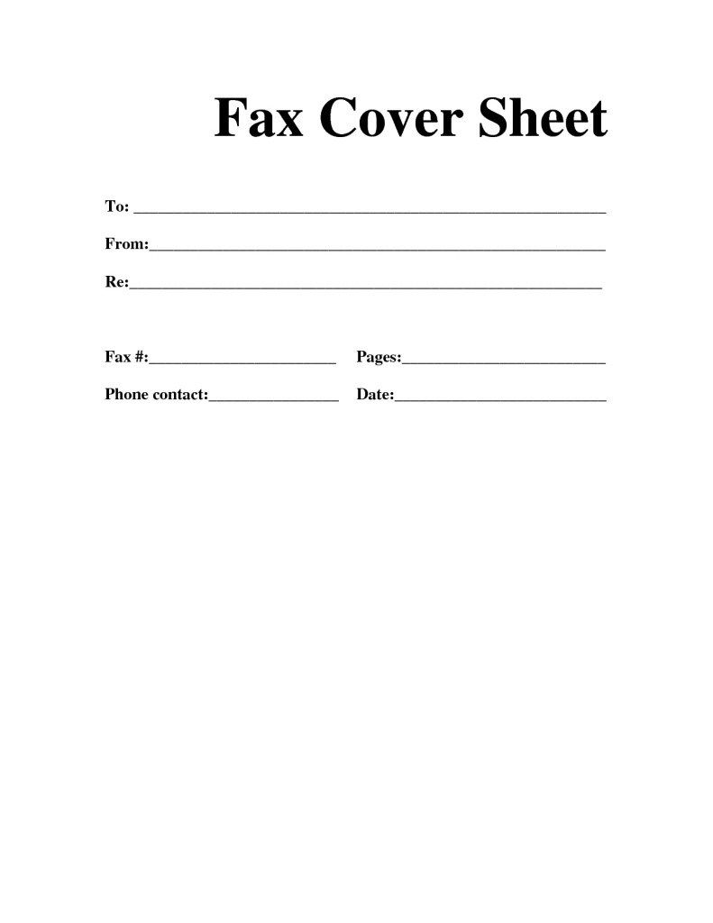 Free}* Fax Cover Sheet Template | Printable, Blank, Basic