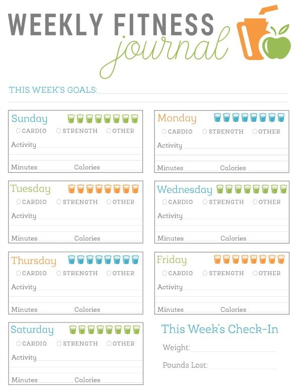 FREE Printable Fitness Journal | Fitness | Pinterest | Fitness