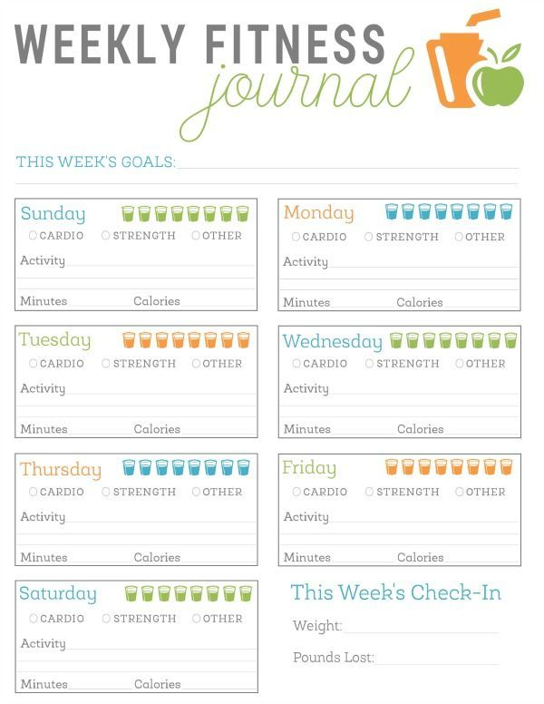FREE Printable Fitness Journal | Planner Printable | Pinterest