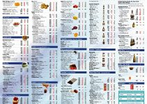 photo regarding Food Calorie List Printable titled Dinner Software Template Printable house