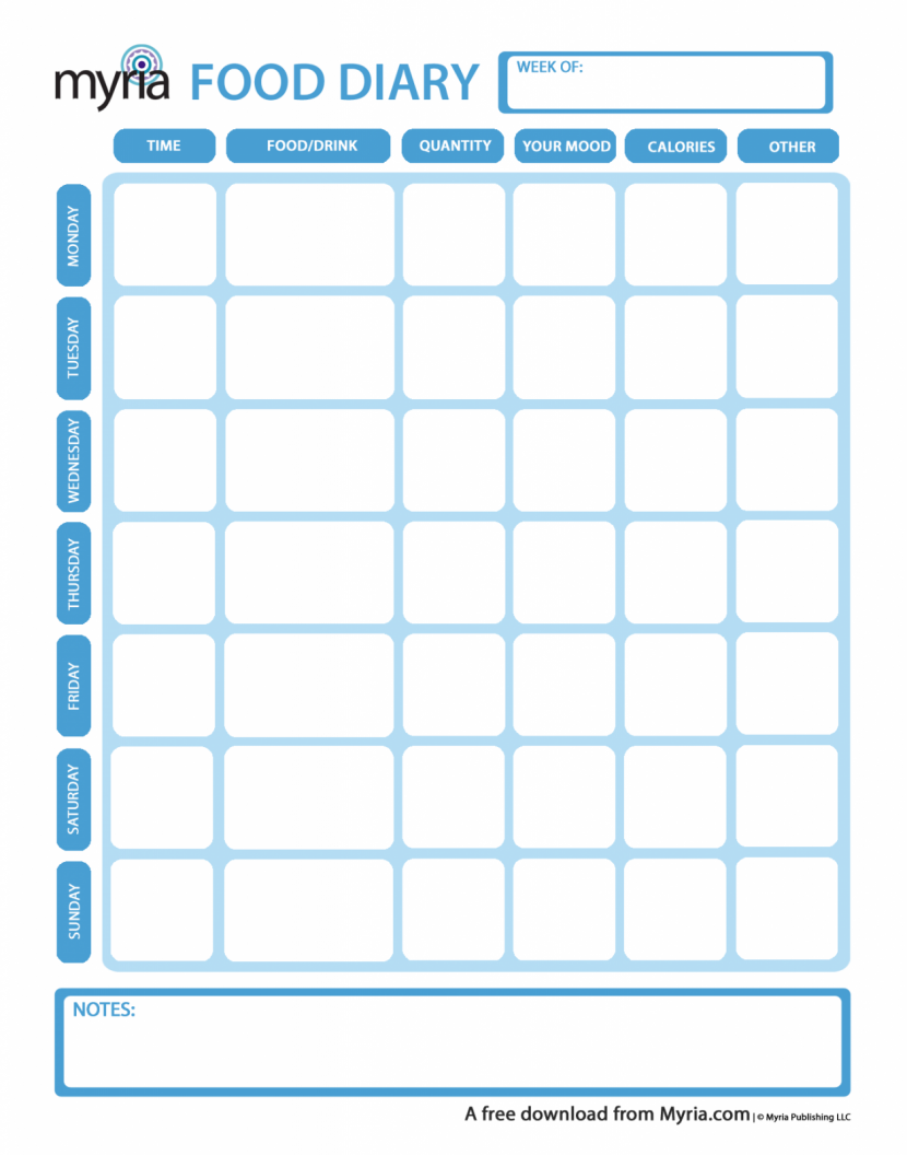 Food Diary Template | Printable Food Journal