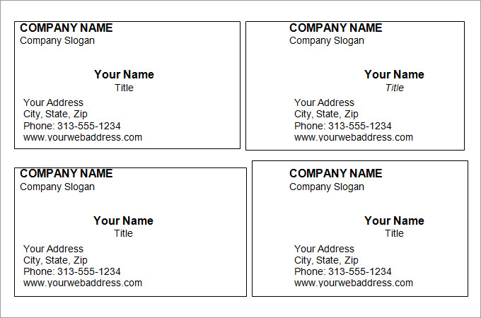 Blank Business Card Template   39+ Business Card TemplateFree