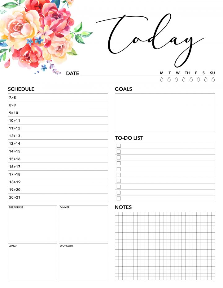 Free Printable 2018 Planner 50 Plus Printable Pages   The Cottage