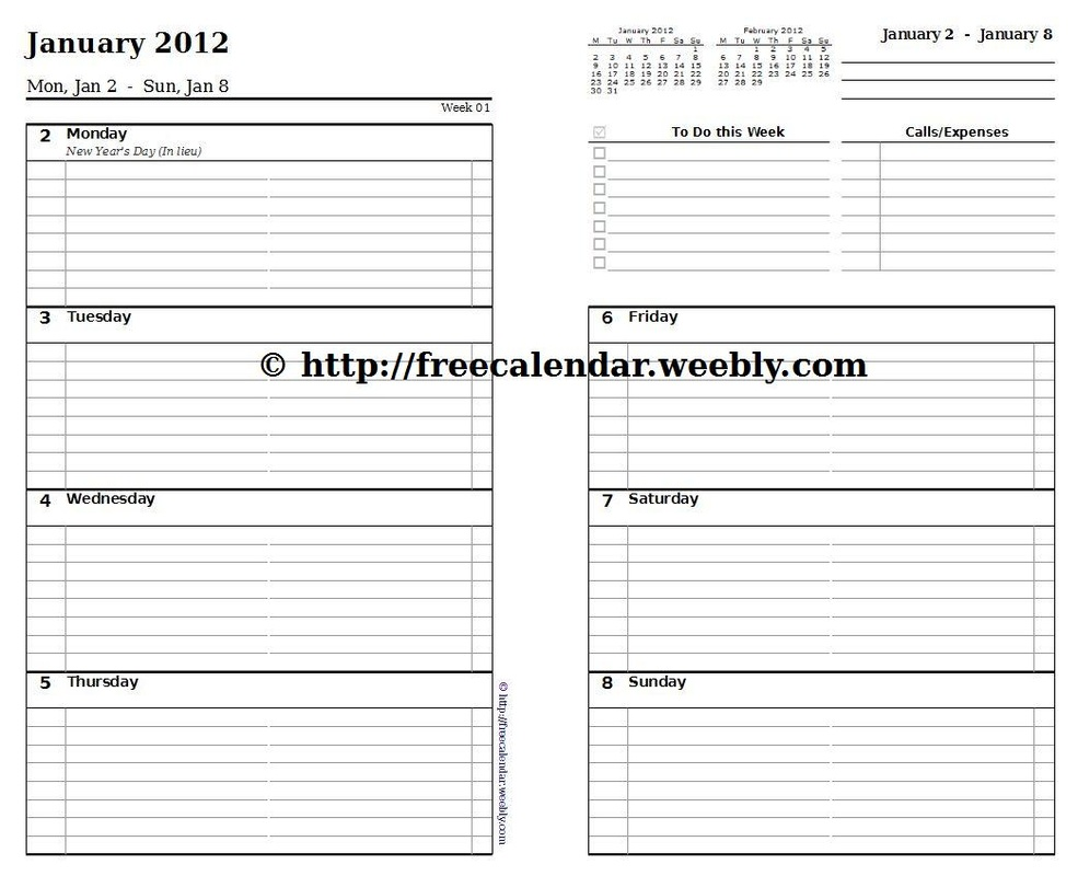 image regarding Free Printable Planner Inserts identified as Cost-free Planner Refills Printable house